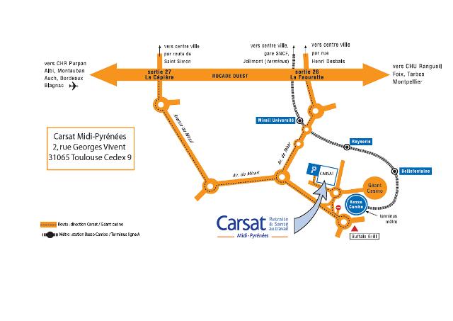 accès à la Carsat